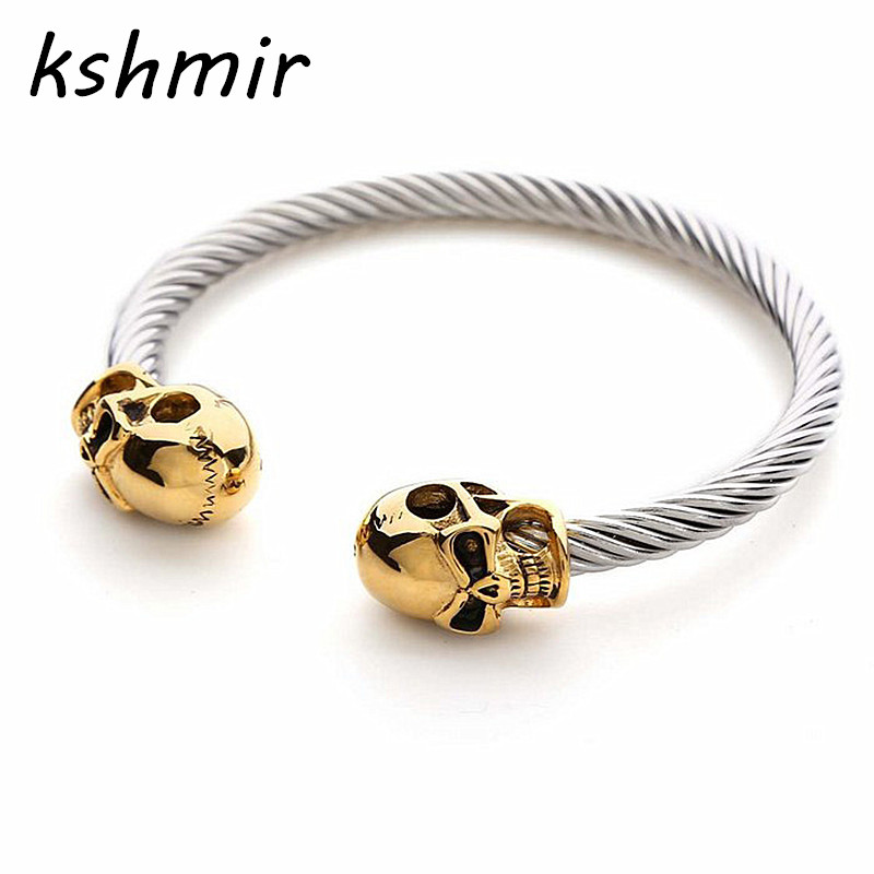High quality metal bracelet Retro fashion bangle bracelet skull with men and women fashion man 5.5 cm in diameter