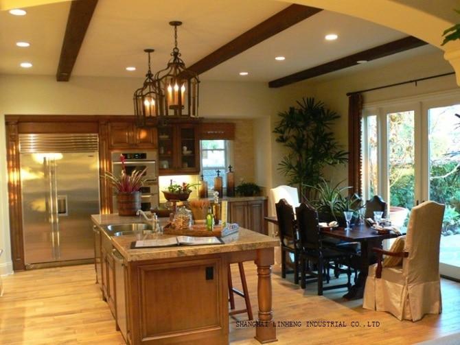 US $1444.0 |Classica in legno di ciliegio mobili da cucina (LH SW014)-in  Mobili da cucina da Miglioramento della casa su AliExpress