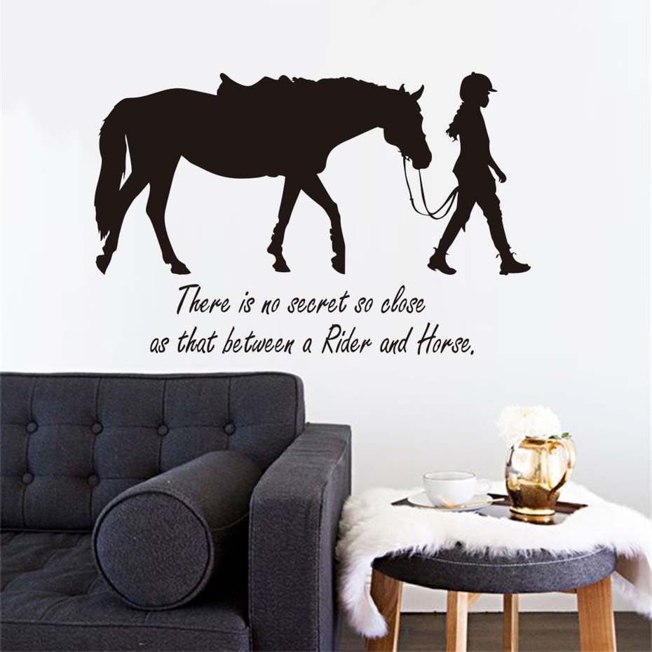 There Is No Secret So Close Girl And Horse Wall Sticker