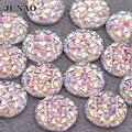 6 8 10 12 16 20 30 35 мм большие блестящие драгоценные камни из смолы с плоским основанием, круглый хрустальный камень без горячей фиксации, Алмазны...