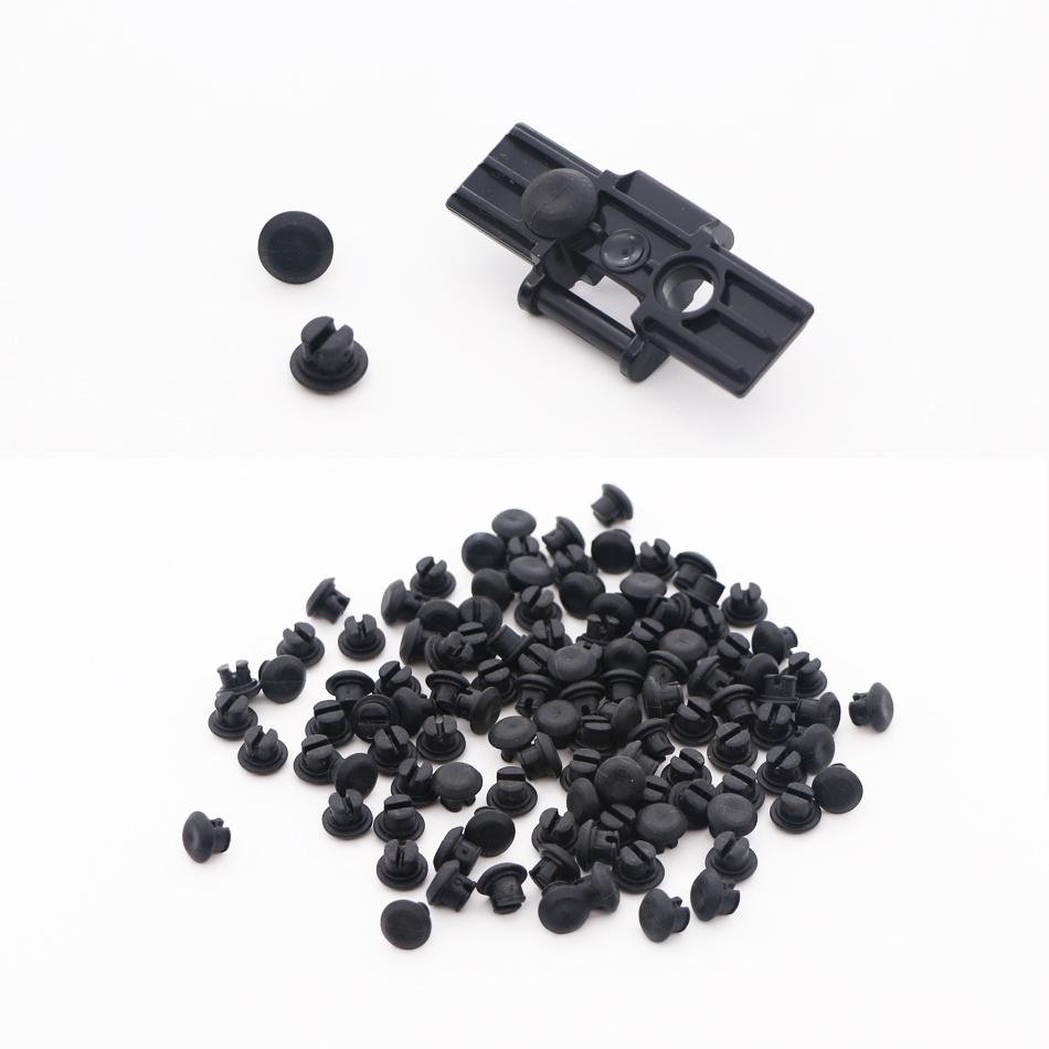 Technic Parts <font><b>Rubber</b></font> Stopper Building Blocks Thread Attachment Grip Tank Caterpillar Track Brick Toys Compatible 24375 image