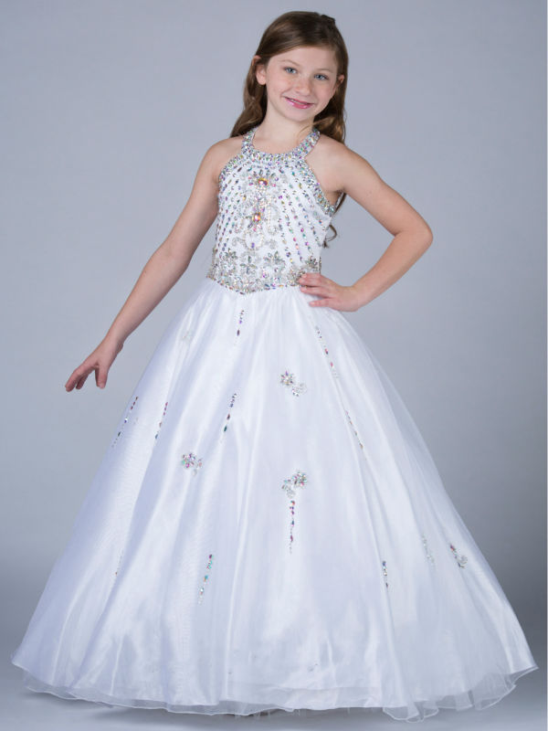 Ball Gown Flower Girls Dresses For Wedding Gown Sleeveless Communion Gown Ankle-Lengh Mother Daughter Dresses With Hade Make 2017 new flower girls dresses for wedding gown ball gown vintage communion dresses ankle length mother daughter dresses with bow