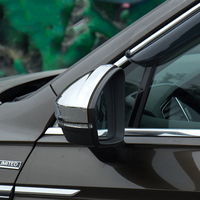 Car Side Rear View Rearview Back Mirror Cover Trim Bright Silver For Volkswagen VW Tiguan MK2