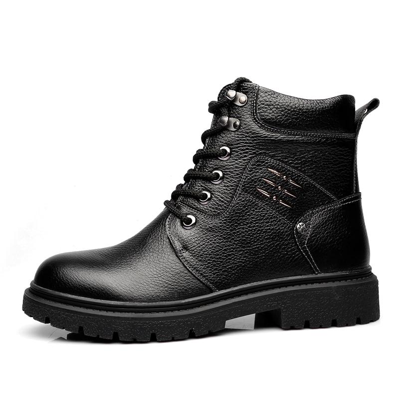 9823br Taille Dr 2018 Osco 9823bl Chaussures Haute Bottes Noir Qualité Militaire 44 Martins up D'hiver Hommes Cuir Bout Rond Véritable Dentelle En 38 qp4w4UB