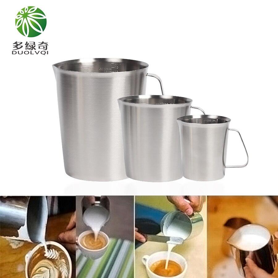 DUOLVQI 500 ml/700 ml/1000 ml/1500 ml/2000 ml Tasse à Mesurer En Acier Inoxydable Cuisine échelle Tasse À Mesurer en Liquide Tasses Cuisine Outils