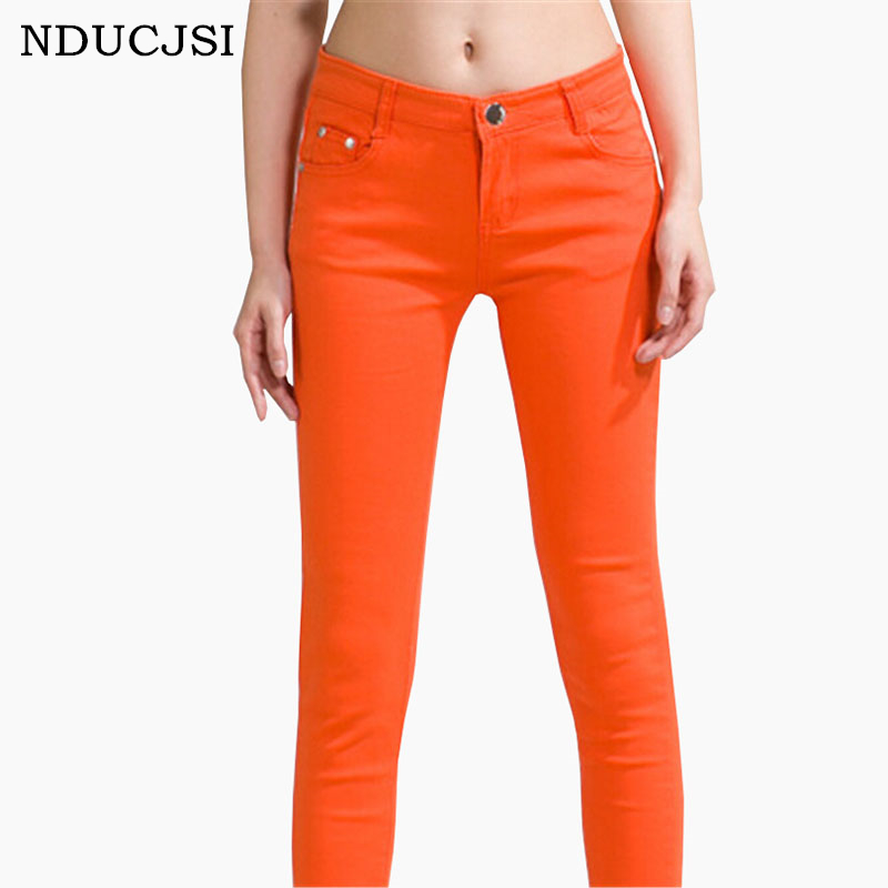 NDUCJSI Casual Cotton Pencil Femme Skinny Jeans Woman