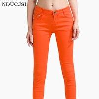 Fashion Jeans Women Jeans Cotton Pencil Legins Femme Skinny Jeans Mid Waist Woman Slim Fit Woman
