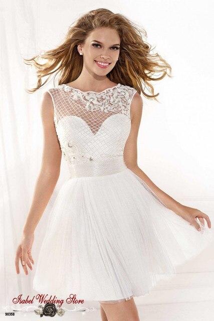 e5f7807f539 Vestido Де Феста Короткие Белые Платья Выпускного Вечера Сексуальная Спинки  Для Подростков Элегантный Девушки Платье Homecoming