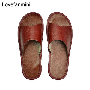 Image 4 - אמיתי פרה עור נעלי בית מקורה זוג החלקה גברים נשים בית אופנה מזדמן אחת נעלי PVC רך סוליות אביב קיץ 515