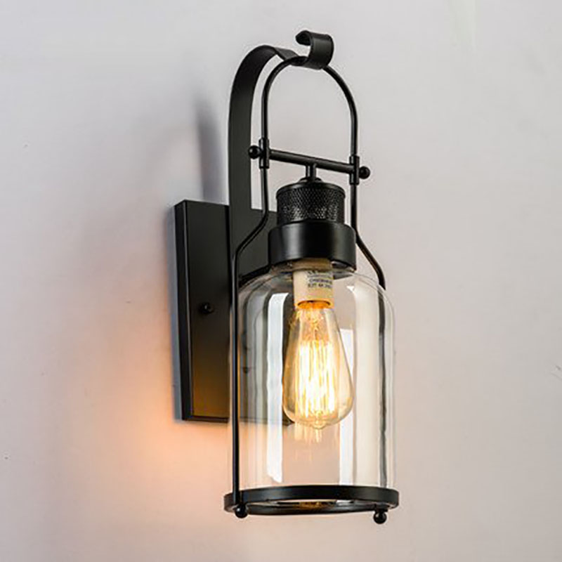 2018 Sale Luminaria American Designer Bedroom Bedside Wall Light Retro Loft Style Aisle Bar Iron Glass Lamp Free Shipping набор ножей 5 предметов victorinox черный 5 1163 5