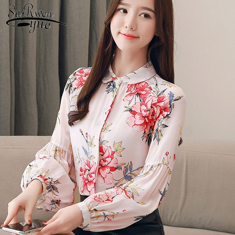 Women Large size 2019 spring fashion elegant long sleeve   blouse   women tops women   blouse     shirt   office female   blouse   tops 2827 50