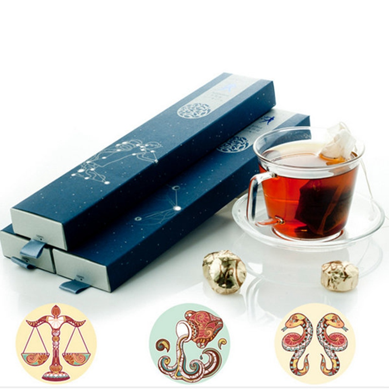 12 Constellations Flavors Yunnan Puer Tea Mini Tuo Ripe Raw Pu Rr Tea The Puerh Tea Food Lose Weight Goods Gift Box