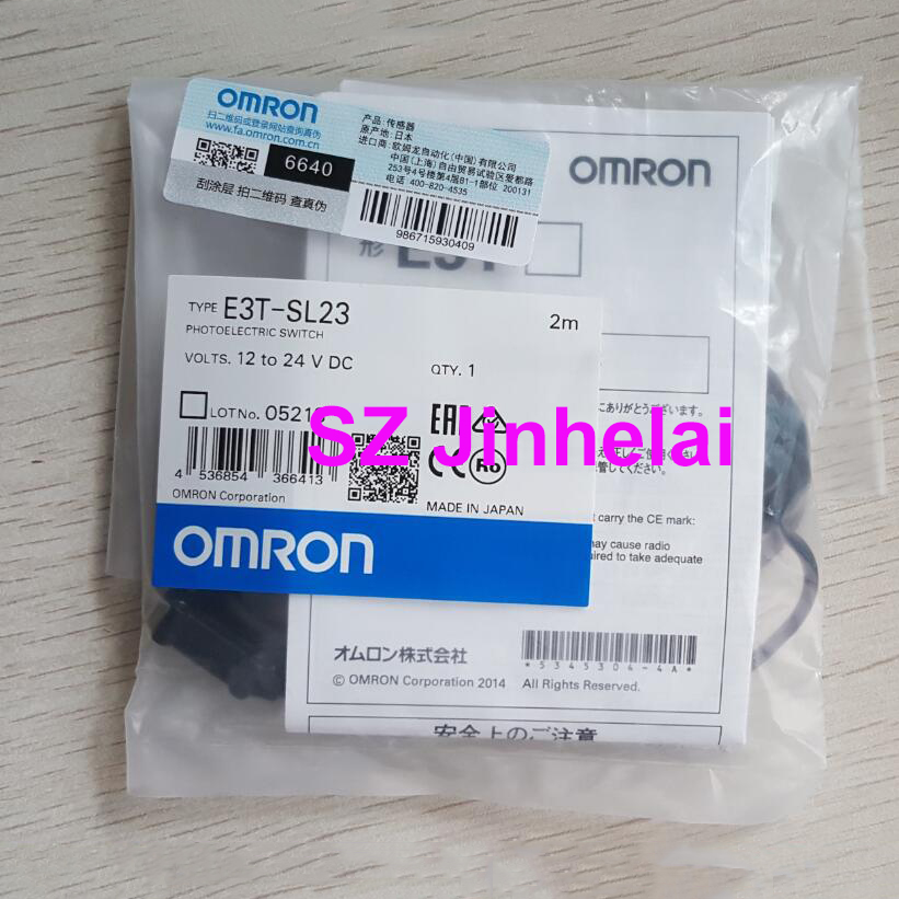 OMRON E3T SL23 Authentic original Photoelectric switch 2M 12 24VDC