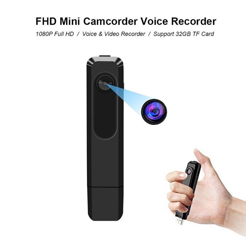 Portable Mini Caméra 1080 P Petit Audio Enregistreur Vocal Portable Numérique Vidéo Enregistrement Sonore Stylo USB Disque Dictaphone Micro Cam