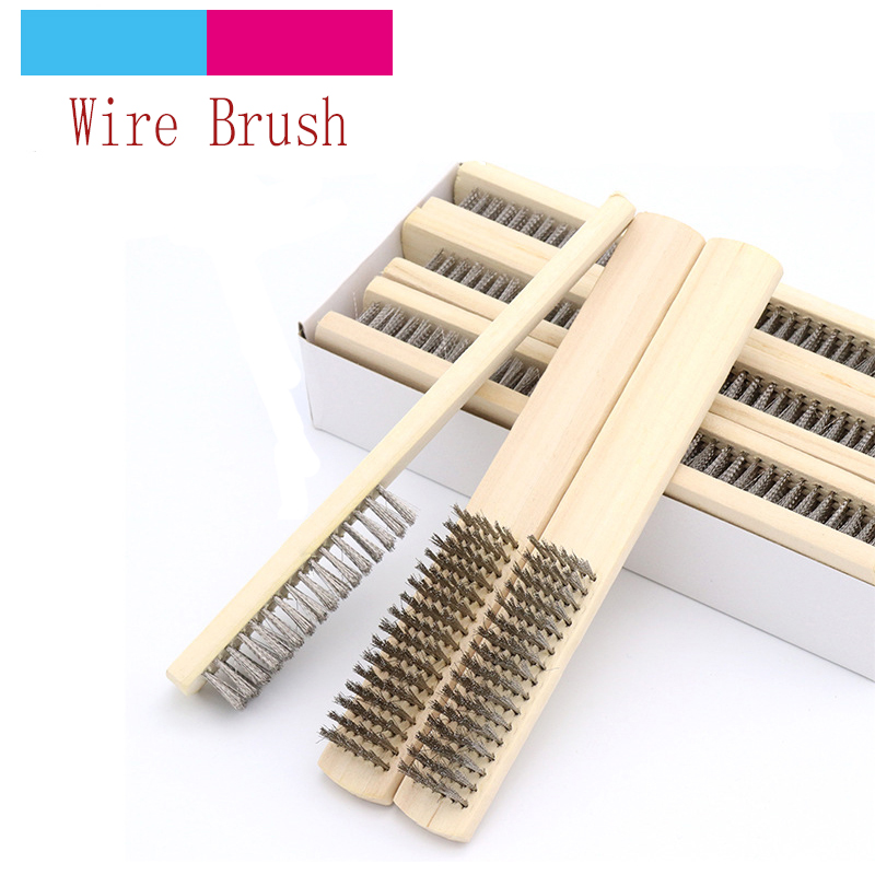 1pcs Stainless Steel Paint Remove Rust Brushes Cleaning Polishing Detail Metal Brushes Clean Tools Home Kits