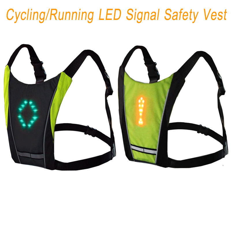 Efficient Usb Charging Led Light Warning Vest Backpack Mtb Bike Bag Safety Led Signal Vests Warning Accessories Cycling Bicycle Bags & Panniers