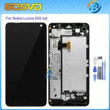 Reemplazo de alta calidad para microsoft para nokia lumia 650 pantalla lcd con pantalla táctil digitalizador asamblea con marco + herramienta gratuita