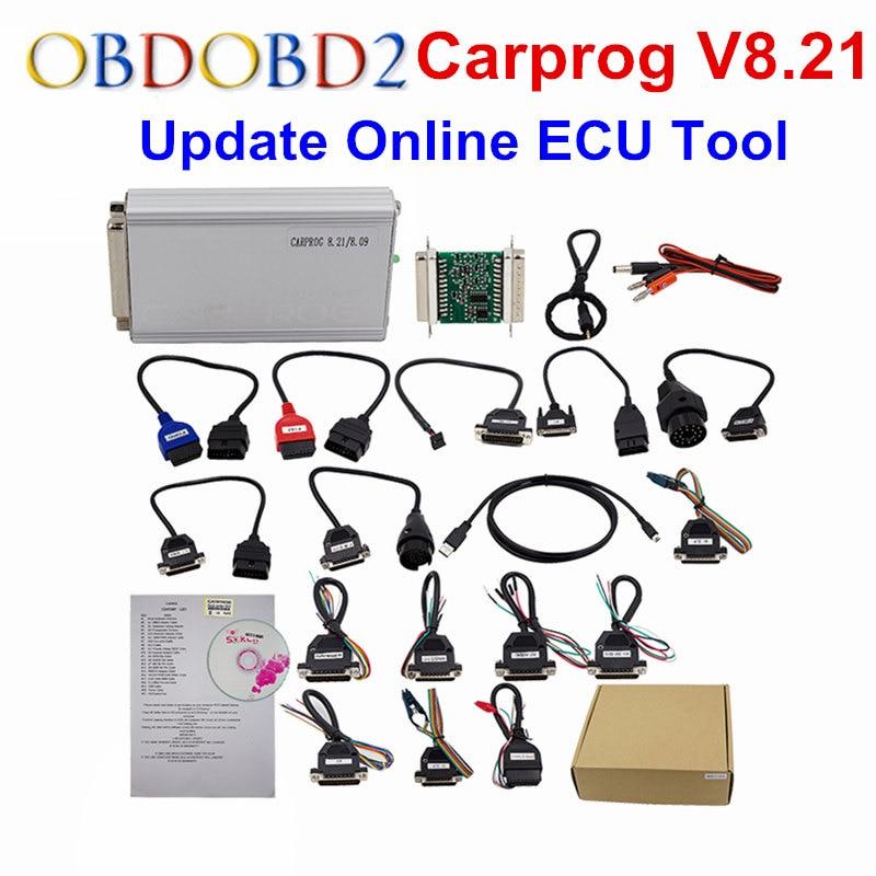 On-line Versione Carprog V8.21 Carprog V10.05/10.93 Auto Prog Programmatore Per Airbag/Radio/Dash/IMMO/ ECU Strumento di Riparazione Auto