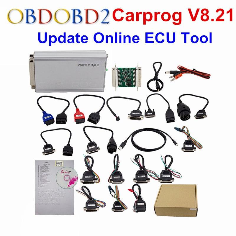 Online Versão Carprog Carprog V8.21 V10.05/10.93 Car Prog Programador Para Airbag/Rádio/Traço/IMMO/ ECU Ferramenta de Reparo Auto