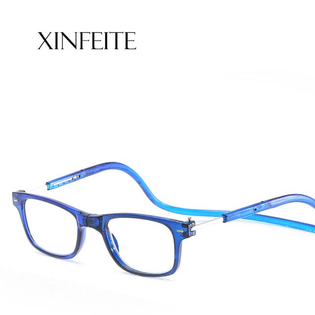 Xinfeite reading glasses New fashion magnets can hang neck HD resin lens for old men and women X9