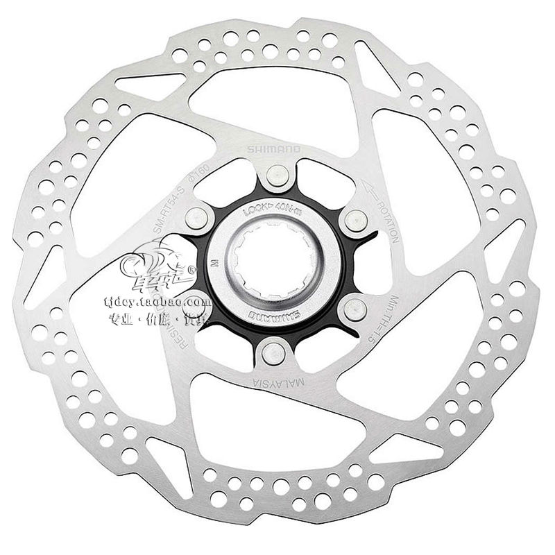 SHIMANO RT54 6 Inch 160mm Disc Brake Center-Lock Rotor 1 PCS shimano rt81 160mm 6 inch ice technologies center lock disc rotors
