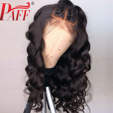 PAFF 13x4 Body Wave Lace Front Human Hair Wigs Glueless Brazilian Remy Hair Frontal Wigs Baby Hair Pre Plucked Bleached Knots