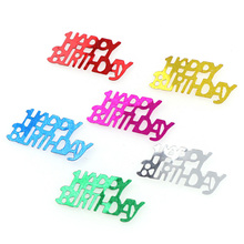 15g Confetti Happy Birthday Barty Wedding Party Scatters Table Decoration Age Birthday Party Wedding Decor Supplies 1000pc girl hot pink white silk rose petals baby shower christening confetti wedding party table scatters confettis decoration