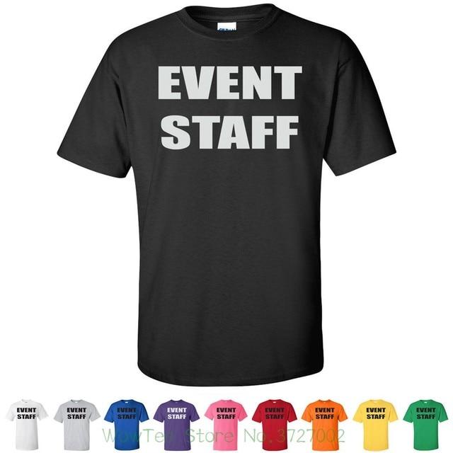 0a943ea2d0 Event Staff Official Party Bouncer Tees Costume Concert Mens Novelty T  Shirts Funny Print Tops Men