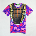 2017 casual Tinfoil Chocolates hiphop concert shirt O-neck sweatshirt 3d print women/men cartoon pullover summer Tees T-shirt