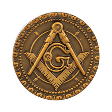 Mason Freemason Masonik Bros Kerah Pin Lencana Bulat(China)