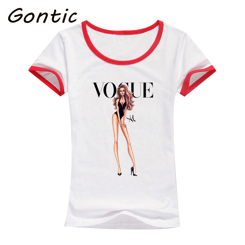 vogue Beauty paris girl printing tshirt women harajuku ulzzang tumblr tops kawaii femme t shirt fashion ladies funny Clothes in T Shirts from Women 39 s Clothing