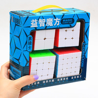 Z Cube Bundle Black Knight 2x2 3x3 4x4 5x5 Speed Cube Set Cube Pack Puzzle Stickerless Cube Magic Fidget Toy Gift Box