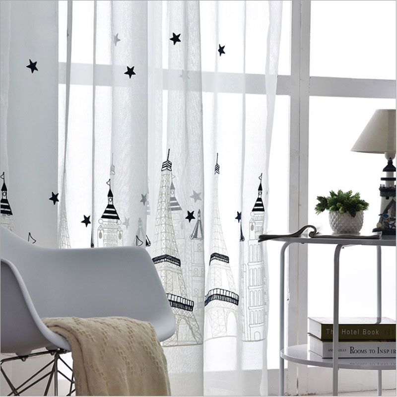 Translucidus Tulle For Rooms White Modern Window Curtain