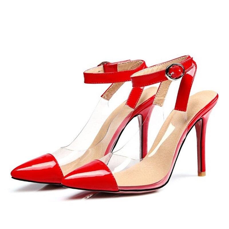women 39 s designer high heels clear model show red sole big. Black Bedroom Furniture Sets. Home Design Ideas