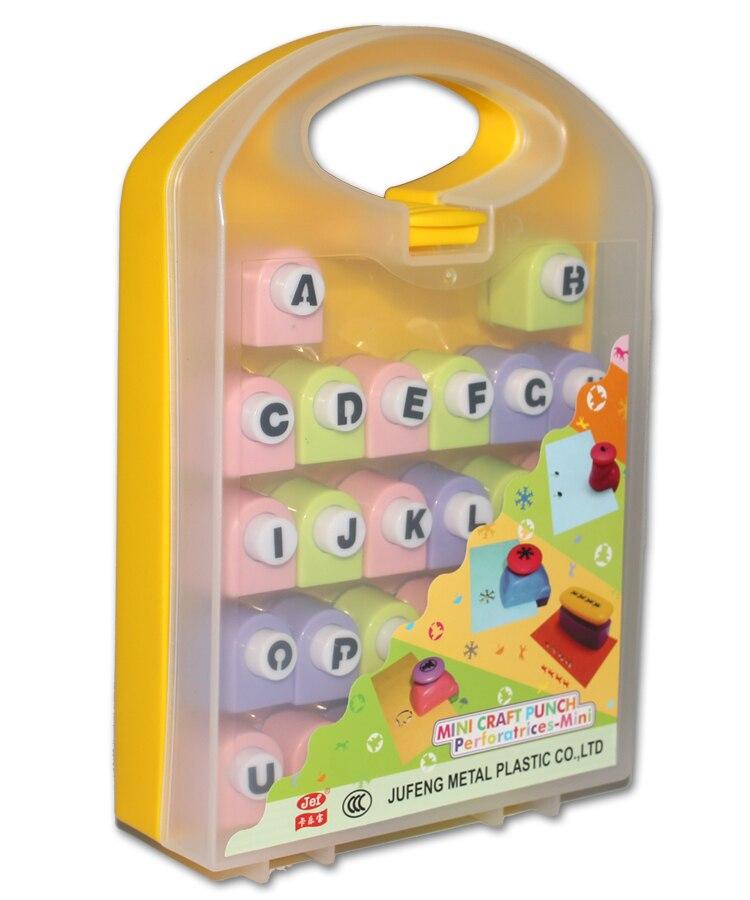 Perforateur papier perforateur ABC bricolage limite créative artisanat papier perforateur cadeaux pour enfants jouets éducatifs 26 PCS/lot