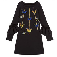 New Brand Girls Dress Monster School Dress Children Kids Casual Design Dresses Elegant Girls Princess Parth