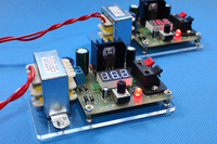 DIY LM317 Adjustable Voltage Power Supply Board Learning Kit With Case