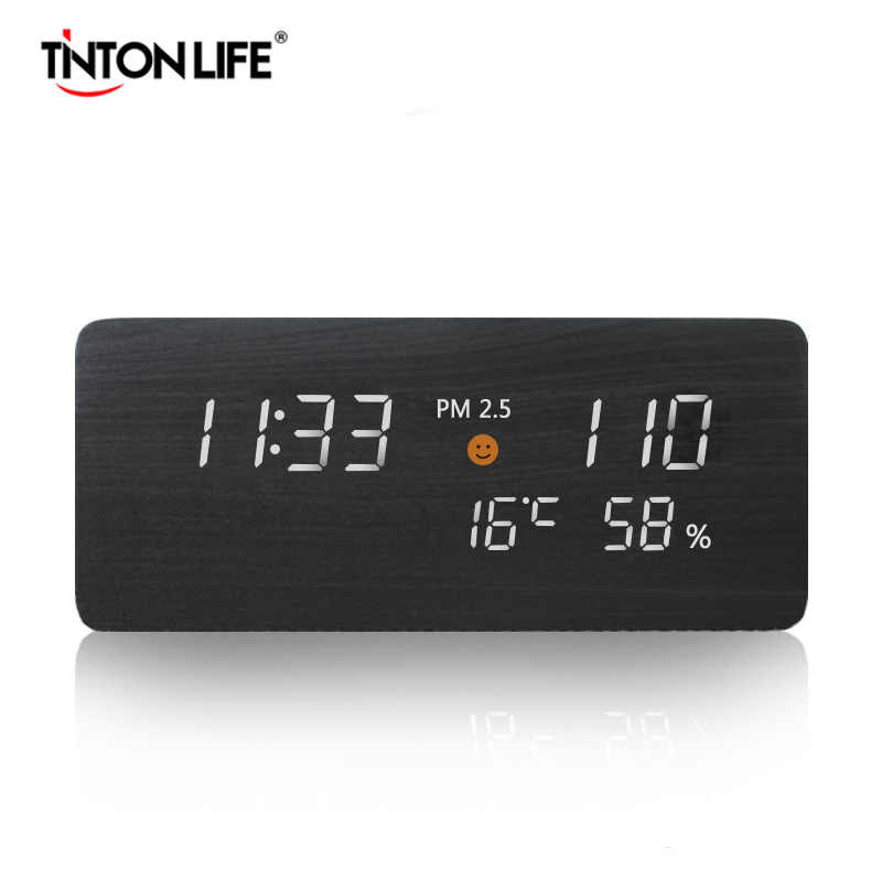 TINTON LIFE PM2 5 Gas Detector Air Quality Monitor USB Power Supply Time Screen Digital Gas