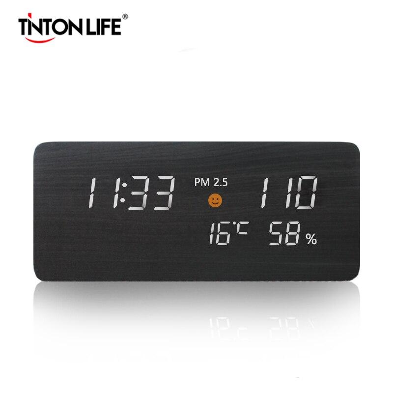 TINTON LIFE PM2.5 Gas Detector Air Quality Monitor USB Power Supply Time Screen Digital Gas Detector