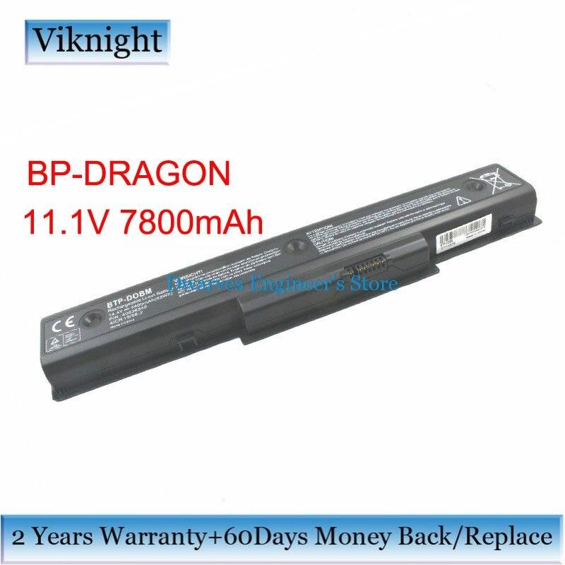 BP-DRAGON batterie d'ordinateur portable Pour Medion Akoya E8410/p8610 P7610 Mam2100 Mim2070 Mim2270 Mim2280 Batterie BP-DRAGON 11.1 V 7800 mAh