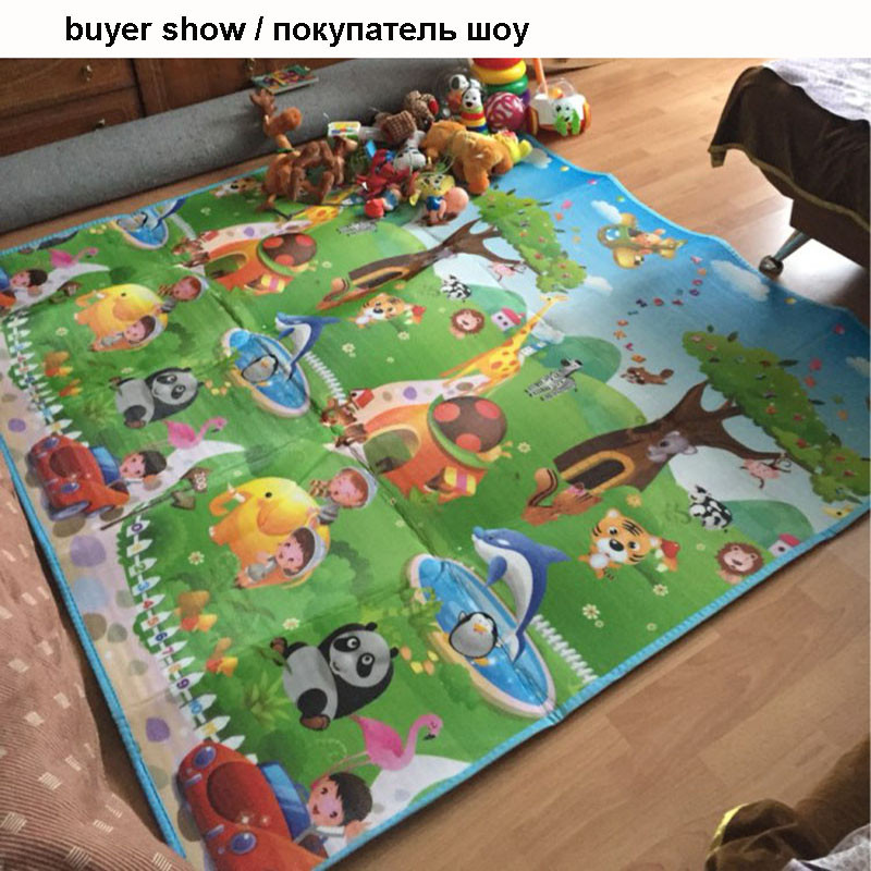 HTB1JZZgaozrK1RjSspmq6AOdFXaV Double Side Baby Play Mat 0.5cm Eva Foam Developing Mat for Children's Rug Carpet Kids Toys Gym Game Crawling Gym Playmat Gift