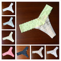 New 2017  Women Panties Sexy Women Thongs and G strings Pink Female Seamless Lace Cotton Lingerie Hipster Print Underwear PM035