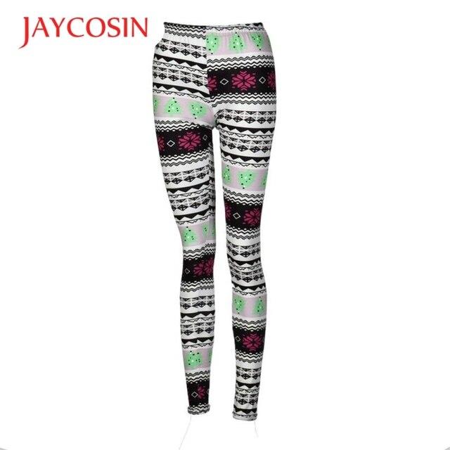 4d5541a812ffb Hot Women Lady Casual Winter Leggings Pants leggins Christmas Tree Print  Stretchy jeggings Keep Warm and Slim WSep27