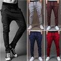 Harem Pants Novo Estilo Moda 2016 Casual Skinny Sweatpants Calças Calças Cair Calças Virilha Homens H231
