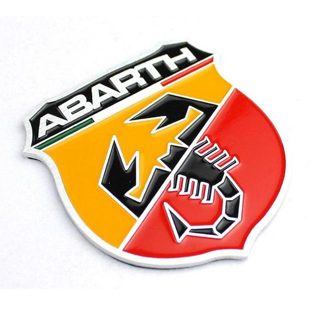 Hot 3D 3M Car Abarth AR Metal Adhesive Badge Emblem logo Decal Sticker character scorpion For All Fiat Abarth 124/125/125/500