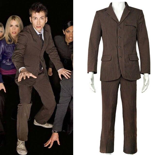 Marrone Vestito Dottor Il Giacca Gessato Chi Dr Costume Who Affari È 9W2IYbHeED
