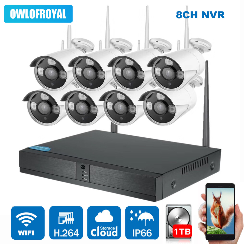 8CH Wireless NVR Kit 1080P Wireless IP Camera P2P 720P 1.3MP Indoor Outdoor IR Night Vision Security Camera WIFI CCTV System escam wnk804 8ch 720p wireless nvr kit outdoor ir night vision ip camera wifi camera kit home security system surveillance