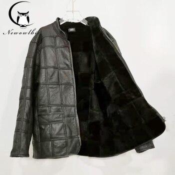 2021 new warm men's fur jacket 100% real sheepskin coat, suit, leather jacket, thick, size custom - discount item  44% OFF Coats & Jackets