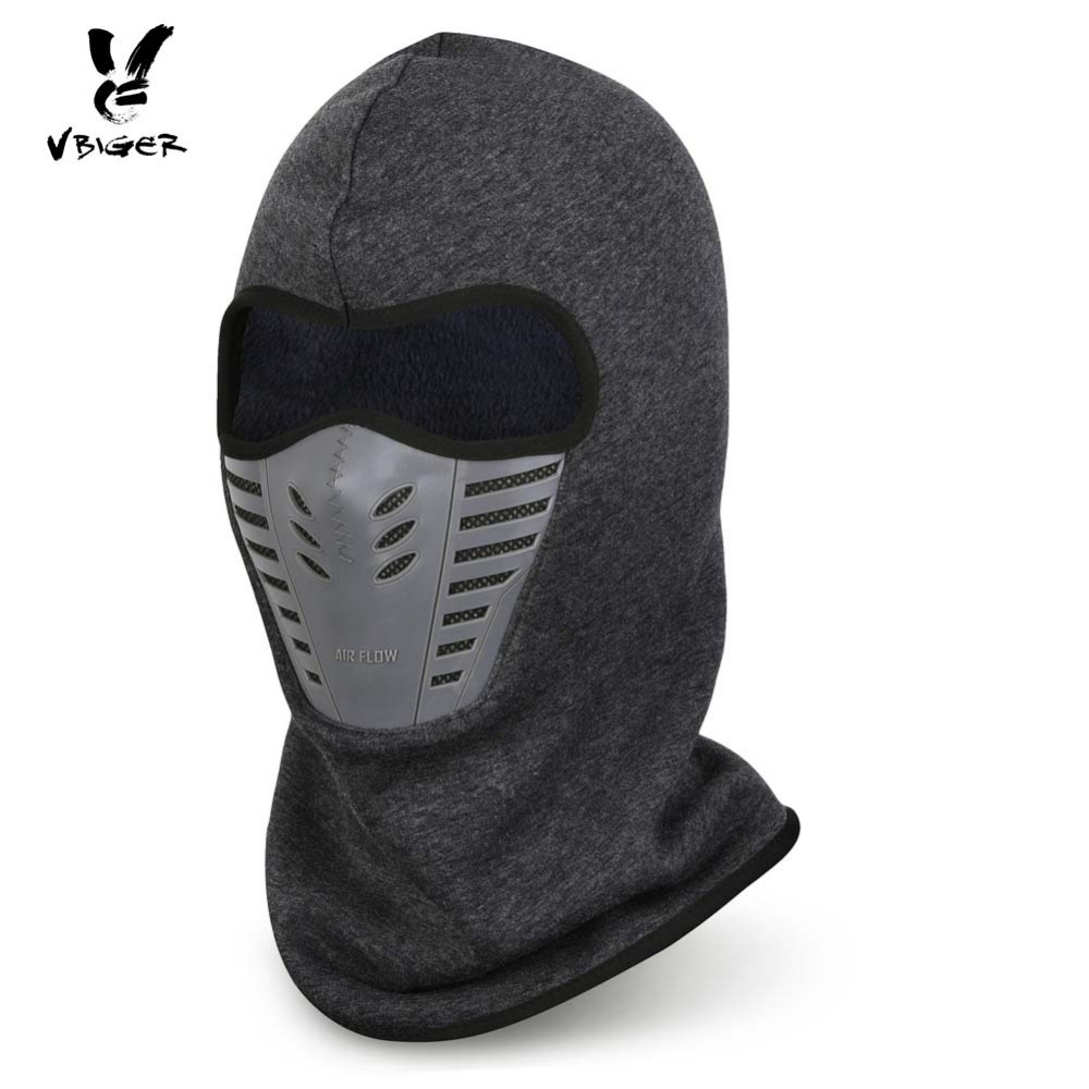 Vbiger Winter Fleece Warm Hat Motorcycle Windproof Face Mask Hat Neck Helmet Beanies Unisex Bicycle Thermal Fleece Balaclava Hat cuhakci 2017 winter heating neck fleece hat headwear winter skiing ear windproof face mask motorcycle bicycle scarf