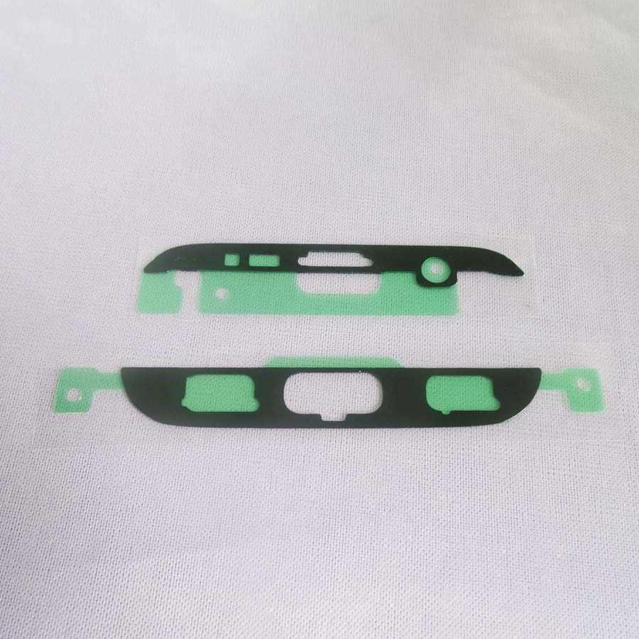 10 مجموعات الأصلي جديد أعلى أسفل LCD الإطار الأمامي الحافة ملصق لسامسونج غالاكسي S7 حافة G935 G9350 لاصق الغراء ملصق